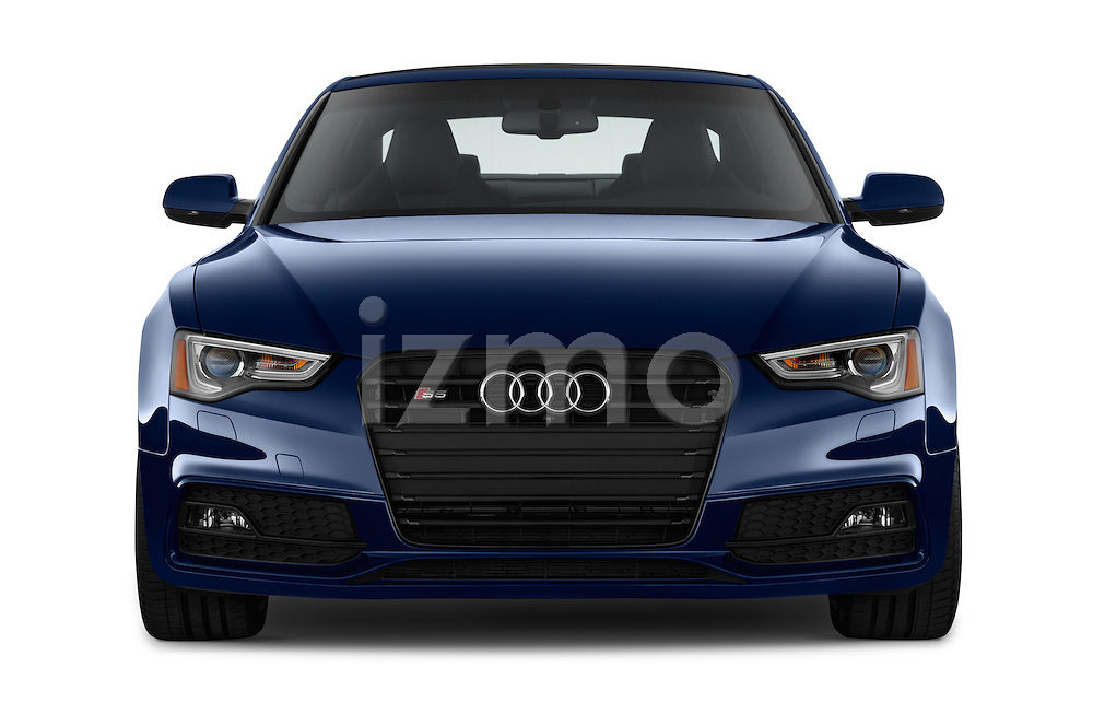 Car photography straight front view of a 2015 Audi S5 4.2 quattro Tiptronic Premium Plus Coupe 2 Door Coupe Front View