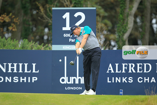 Ernie Els (RSA) during Round 2 of the Alfred Dunhill Links Championship at Kingsbarns Golf Club on Friday 27th September 2013.<br /> Picture:  Thos Caffrey / www.golffile.ie