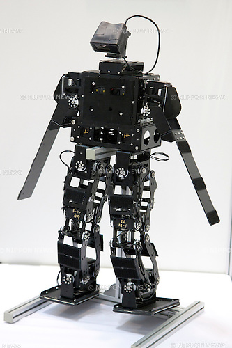 October 17, 2012, Tokyo, Japan - A small humanoid robot at Japan Robot Week. The Japan Robot Week 2012 shows the New Energy and Industrial Robot Innovation Technology products in Japan, the exhibition opens from October 17 to 19 at Tokyo Big Sight. (Photo by Rodrigo Reyes Marin/AFLO)..
