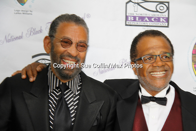 """Love Boat's Ted Lange """"Issac"""" with Maurice Hines at The National Black Theatre Festival with a week of plays, workshops and much more with an opening night gala of dinner, awards presentation followed by Black Stars of the Great White Way followed by a celebrity reception. It is an International Celebration and Reunion of Spirit. (Photo by Sue Coflin/Max Photos)"""
