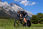 Georgia Williams (NZL) in action during the Elite Women Individual Time Trial of the 2018 UCI Road World Championships running 27.8km from Wattens to Innsbruck, Innsbruck-Tirol, Austria 2018. 25th September 2018.<br /> Picture: Innsbruck-Tirol 2018/Dario Belingheri | Cyclefile<br /> <br /> <br /> All photos usage must carry mandatory copyright credit (&copy; Cyclefile | Innsbruck-Tirol 2018/Dario Belingheri)