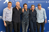 VENICE, ITALY - SEPTEMBER 4: Martin McDonagh, Sam Rockwell, Frances McDormand and Woody Harrelson attend the photocall for Three Billboards Outside Ebbing, Missouri during the 74th Venice Film Festival on September 4, 2017 in Venice, Italy.<br /> CAP/BEL<br /> &copy;BEL/Capital Pictures