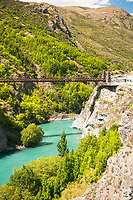 Bungee jumping on Kawarau River bridge near Queenstown, Central Otago, South Island, New Zealand, NZ