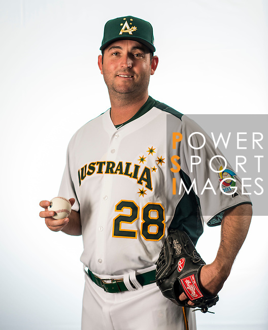 Brendan Wise of Team Australia poses during WBC Photo Day on February 25, 2013 in Taichung, Taiwan. Photo by Andy Jones / The Power of Sport Images