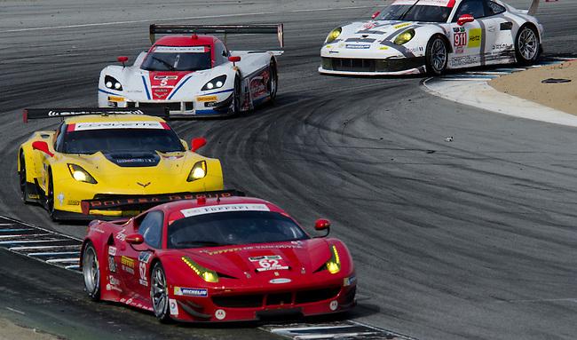 Monterey California, May 4, 2014, Laguna Seca Monterey Grand Prix, cars race through turn 11