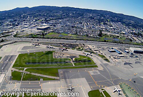 aerial photograph of San Francisco International airport SFO