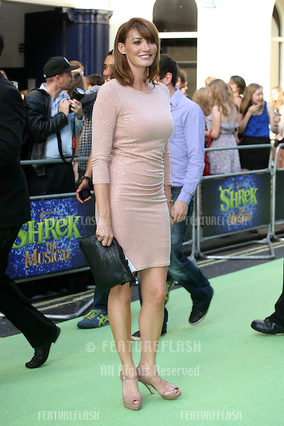 Sarah Parish attending the Shrek The Musical Press Night, at the The Theatre Royal, London. 14/06/2011  Picture by: Alexandra Glen / Featureflash