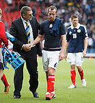 Craig Levein and Charlie Adam at the end