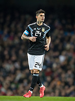 Diego Perotti (ROMA) of Italy during the International Friendly match between Argentina and Italy at the Etihad Stadium, Manchester, England on 23 March 2018. Photo by Andy Rowland.