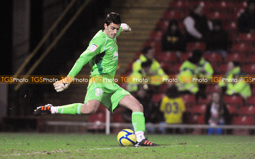 Watford goalie Jonathan Bond - Watford vs Bradford City - FA Cup 3rd Round Football at Vicarage Road Stadium, Watford - 07/01/12 - MANDATORY CREDIT: Anne-Marie Sanderson/TGSPHOTO - Self billing applies where appropriate - 0845 094 6026 - contact@tgsphoto.co.uk - NO UNPAID USE.