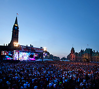 July 1st 2011 File Photo - Ottawa, Ontario, CANADA - Hand Out photo -<br /> Canada Day 2011 Evening Show on Parliament Hill.<br /> <br /> <br /> Spectacle de la soirée sur la colline du Parlement lors de la fête du Canada 2011.<br /> <br /> <br /> <br /> Photo credit: National Capital Commission<br /> Crédit photo: Commission de la capitale nationale