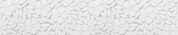 """8"""" Jacqueline border, a waterjet mosaic shown in tumbled Thassos, is part of the Silk Road® collection by New Ravenna."""