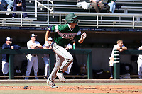 CARY, NC - FEBRUARY 23: Freddy Sabido #33 of Wagner College runs to first base after hitting the ball during a game between Wagner and Penn State at Coleman Field at USA Baseball National Training Complex on February 23, 2020 in Cary, North Carolina.
