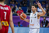 7th September 2017, Fenerbahce Arena, Istanbul, Turkey; FIBA Eurobasket Group D; Belgium versus Serbia; Point Guard Sam Van Rossom #5 of Belgium gestures during the match