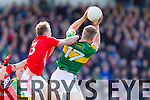 Tommy Walsh Kerry in action against Michael Shields Cork in the National Football League at Pairc Ui Rinn, Cork on Sunday.