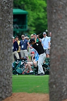 Kevin Na (USA) on the 17th tee during the 2nd round at the The Masters , Augusta National, Augusta, Georgia, USA. 12/04/2019.<br /> Picture Fran Caffrey / Golffile.ie<br /> <br /> All photo usage must carry mandatory copyright credit (© Golffile | Fran Caffrey)