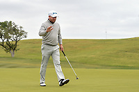 Graeme McDowell (NIR) after sinking his birdie putt on 10 during Round 2 of the Valero Texas Open, AT&amp;T Oaks Course, TPC San Antonio, San Antonio, Texas, USA. 4/20/2018.<br /> Picture: Golffile | Ken Murray<br /> <br /> <br /> All photo usage must carry mandatory copyright credit (&copy; Golffile | Ken Murray)