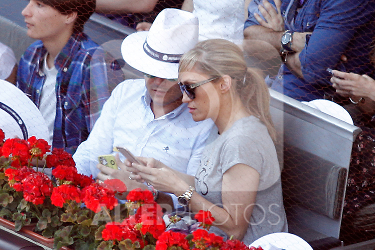 Spanish journalist Lujan Arguelles during Madrid Open Tennis 2016 match.May, 3, 2016.(ALTERPHOTOS/Acero)