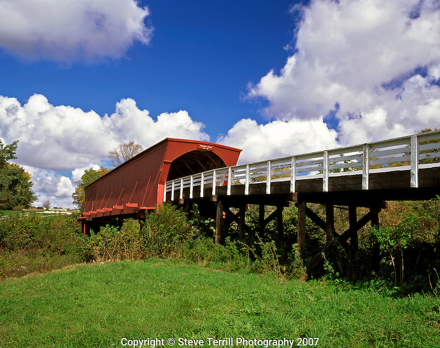 Roseman Covered Bridge located in Madison County, Iowa