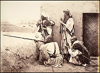 BNPS.co.uk (01202 558833)<br /> Pic: DominicWinter/BNPS<br /> <br /> A group of Affreedies, an Afghan tribe from the Khyber Pass. <br /> <br /> Fascinating 150 year-old photographs of India taken in the aftermath of the failed mutiny have sold for almost &pound;8,000 at auction.<br /> <br /> The images, which date from 1863 to 1870, capture native soldiers with their weapons and picturesque landscapes and were taken by celebrated 19th century photographer Samuel Bourne.<br /> <br /> They went for a hammer price of &pound;6,400 to a private collector from America who bid online with extra fees pushing the overall price above &pound;7,800.<br /> <br /> Together with Charles Shepherd, Bourne set up photo studio Bourne &amp; Shepherd first in Simla in 1863 and later in Calcutta.