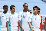 16 June 2007: Guatemala's Rigoberto Gomez (14), Carlos Quinones (18), Pablo Melgar (3), and Marvin Avila (11). The Canada Men's National team defeated the Guatemala Men's National Team 3-0 at Gillette Stadium in Foxboro, Massachusetts in a 2007 CONCACAF Gold Cup quarterfinal.