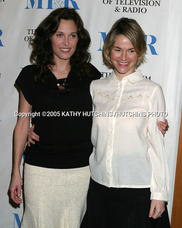 """ERIN DANIELS.LEISHA HAILEY.""""THE L WORD"""" PANEL .MUSEUM OF TV AND RADIO.DIRECTORS GUILD OF AMERICA THEATER.HOLLYWOOD, CA.MARCH 10, 2005.©2005 KATHY HUTCHINS /HUTCHINS PHOTO......."""