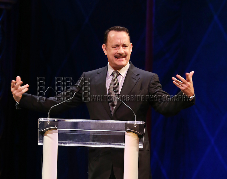 Tom Hanks during the 69th Annual Theatre World Awards Presentation at the Music Box Theatre in New York City on June 03, 2013.