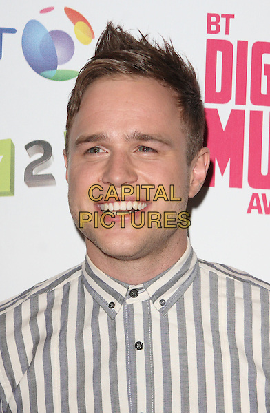 Olly Murs.BT Digital Music Awards held at the Roundhouse, Chalk Farm, London, England..September 29th 2011.headshot portrait grey gray white smiling .CAP/JIL.©Jill Mayhew/Capital Pictures