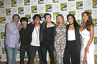 SAN DIEGO - July 21:  Jason Rothenberg, Christopher Larkin, Bob Morley, Richard Harmon, Eliza Taylor, Marie Avgeropoulos and Lindsey Morgan  at Comic-Con Friday 2017 at the Comic-Con International Convention on July 21, 2017 in San Diego, CA