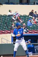 Brett Eibner (6) of the Omaha Storm Chasers at bat against the Memphis Redbirds in Pacific Coast League action at Werner Park on April 22, 2015 in Papillion, Nebraska.  (Stephen Smith/Four Seam Images)