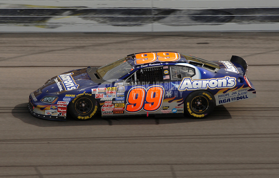 Sept. 30, 2006; Kansas City, KS, USA; Nascar Busch Series driver David Reutimann (99) during the Yellow Transportation 300 at Kansas Speedway. Mandatory Credit: Mark J. Rebilas.