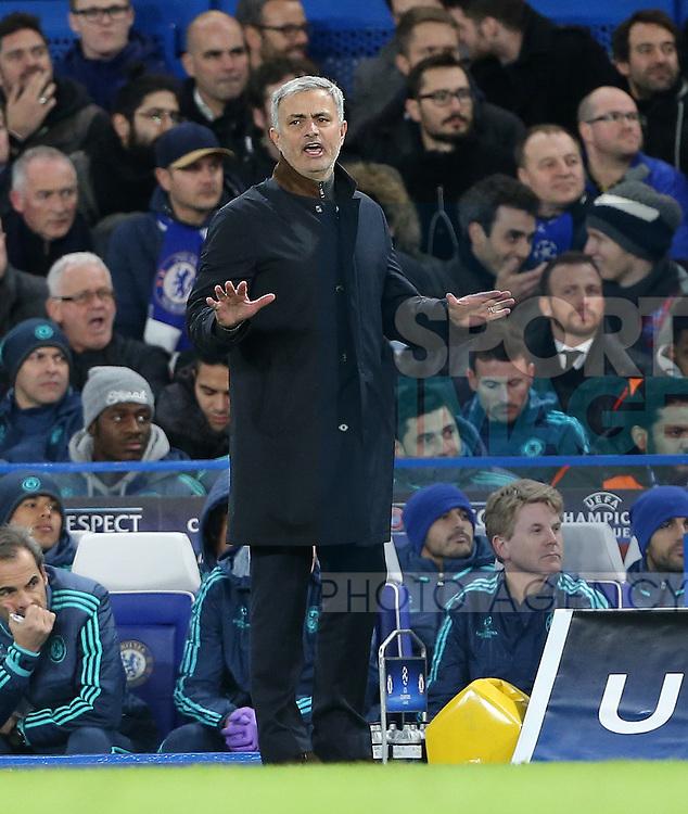 Chelsea's Jose Mourinho looks on<br /> <br /> UEFA Champions League - Chelsea v FC Porto - Stamford Bridge - England - 9th December 2015 - Picture David Klein/Sportimage