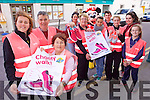 Centra workers in Ballyheigue are calling on everyone to come and join them on a fundraising walk for Action Breast Cancer on Sunday November 2nd at 12 noon. From front l-r were: Grainne Galway, Brendan Moriarty, Margaret Moriarty. Pictured at the back from l-r: Patricia Reidy, Magda Karczewska, Maura O'Sullivan, Molly Casey, Mairead Moriarty, Conor Galway, Jackie O'Sullivan with Minnie Mouse.