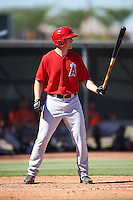 Los Angeles Angels of Anaheim Jordan Zimmerman (36) during an Instructional League game against the San Francisco Giants on October 13, 2016 at the Tempe Diablo Stadium Complex in Tempe, Arizona.  (Mike Janes/Four Seam Images)