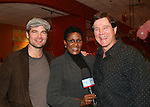"Guiding Light's Daniel Cosgrove ""Billy Lewis"" and Frank Dicopoulos ""Frank Cooper"" poses with Brenda Waters of CBS 2 as Daniel and Frank donated their time for Young Women's Breast Cancer Awareness Foundation by going to Pittsburgh, PA on October 7, 2008 and went Pink with Panera. They visited three of 27 Panera Bread locations during the day where 100% of sales from their Pink Ribbon bagels went to the foundation and a portion of those sales all during the month of October. For more information go to www.breastcancerbenefit.org. The day started out with Star 100.7 and the hosts Kate and JR interviewed Frank Dicopoulos. The two actors then went to the CBS studio in Pittsburgh in the morning. The day was a great hit. (Photo by Sue Coflin/Max Photos)"