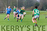 Laura Rogers Kerry powers past Noelle Healy Dublin during the NFL in Castleisland on Sunday