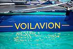 Voilavion prototype, a real flying nautical experimental platform.<br />  Voilavion 18ft test platform was designed to test all kinds of rigs and foils in order to find the best compromise between speed, navigation comfort and pleasure.<br /> Gabin HERVE, bureau d'&eacute;tudes, Vincent LANTIN, chef de projet, G&eacute;rald QUEOURON, navigateur pilote d'essais.