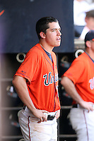 Danny Hultzen of the Virginia Cavaliers playing in Game Two of the NCAA Super Regional tournament against the Oklahoma Sooners at Charlottesville, VA - 06/13/2010. Oklahoma defeated Virginia, 10-7, to tie the series after two games.  Photo By Bill Mitchell / Four Seam Images