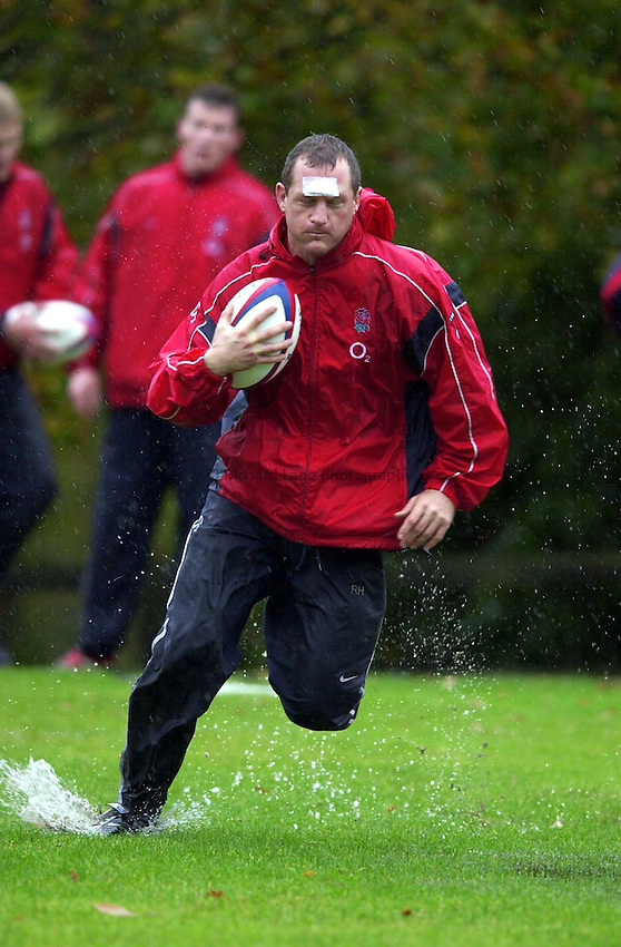 Photo. Richard Lane. .England Squad Training at Pennyhill Hotel, Bagshot..06-11-2002..Richard Hill