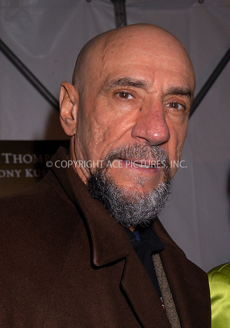 F. Murray Abraham arriving at the premiere of HBO's series, 'Angels in America.' New York, Nowember 4, 2003. Please byline: AJ SOKLANER/NY Photo Press.   ..*PAY-PER-USE*      ....NY Photo Press:  ..phone (646) 267-6913;   ..e-mail: info@nyphotopress.com