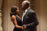 Proud Mary (2018) <br /> As Mary (Taraji P. Henson) and Benny (Danny Glover) dance, she says that she's thinking about moving on and would like her money<br /> *Filmstill - Editorial Use Only*<br /> CAP/KFS<br /> Image supplied by Capital Pictures
