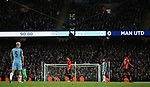 Spider cam during the English Premier League match at The Etihad Stadium, Manchester. Picture date: April 27th, 2016. Photo credit should read: Lynne Cameron/Sportimage