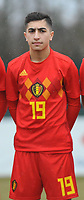 20180308 - TUBIZE , BELGIUM : Belgian Anouar Ait El Hadj pictured during a friendly game between the teams of the Belgian Red Devils Under 16 and Northern Ireland Under 16 at the Belgian Football Centre in Tubize , Thursday 8 th March 2018 ,  PHOTO Dirk Vuylsteke | Sportpix.Be