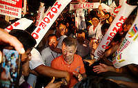 Colombia. 1st June 2014. The President of Colombia and candidate, Juan Manuel Santos Juan Manuel Santos greets his supporters during a walk in Bucaramanga, Santander, during his tour of the country for re-election in runoff. Photo by SANTOS Campaign/Daniel Munoz / VIEWpress TO EDITORS : THIS PICTURE WAS PROVIDED BY A THIRD PARTY.  THIS PICTURE IS DISTRIBUTED EXACTLY AS RECEIVED BY VIEWpress, AS A SERVICE TO CLIENTS