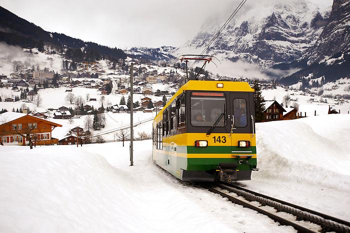 Grindelwald to Kleiner Scheidegg Train - Swiss Alps