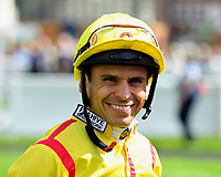 Jockey Raul Da Silva during Horse Racing at Salisbury Racecourse on 15th August 2019