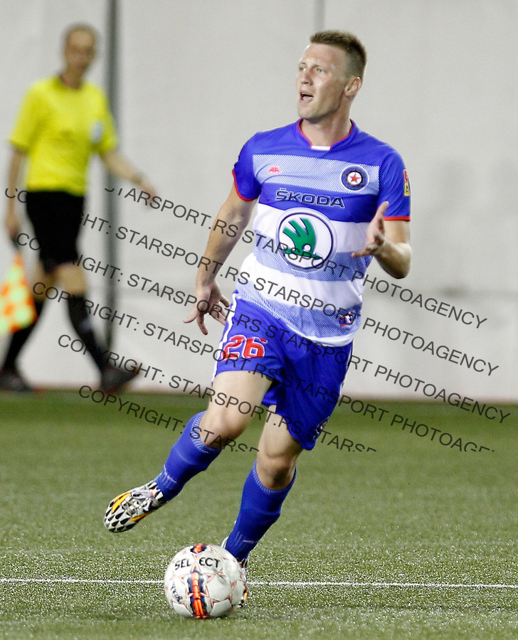 Stefan Vukmirovic  Jelen Super Liga JSL Superliga Srbije Vozdovac - Borac Jul 25. 2015. (credit image & photo: Pedja Milosavljevic / STARSPORT)