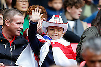 A young England fan ahead of the FIFA World Cup qualifying match between England and Malta at Wembley Stadium, London, England on 8 October 2016. Photo by David Horn / PRiME Media Images.