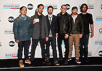 LOS ANGELES, CA - NOVEMBER 18: Linkin Park in the press room at the 40th American Music Awards held at Nokia Theatre L.A. Live on November 18, 2012 in Los Angeles, California. Credit: mpi20/MediaPunch Inc. /NORTEPHOTO