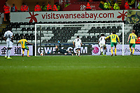 Thursday 24 October 2013  <br /> Pictured:  Gerhard Tremmel of Swansea is unable to save the penaltyin the dying seconds of the game<br /> Re:UEFA Europa League, Swansea City FC vs Kuban Krasnodar,  at the Liberty Staduim Swansea